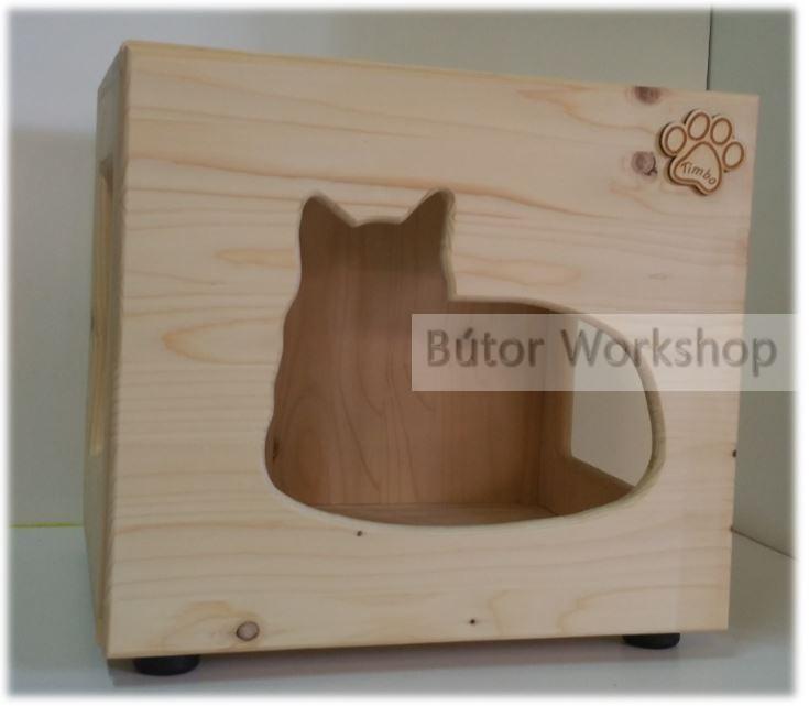 Timbo álló cicajátszóház fekvő cica mintával