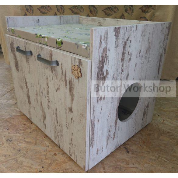 Timbo cicafekhely macskaalom tálca tartóval XL-es méret