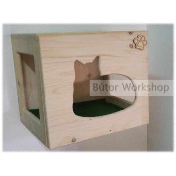 Timbo falra szerelhető macskabútor fekvő cica mintával