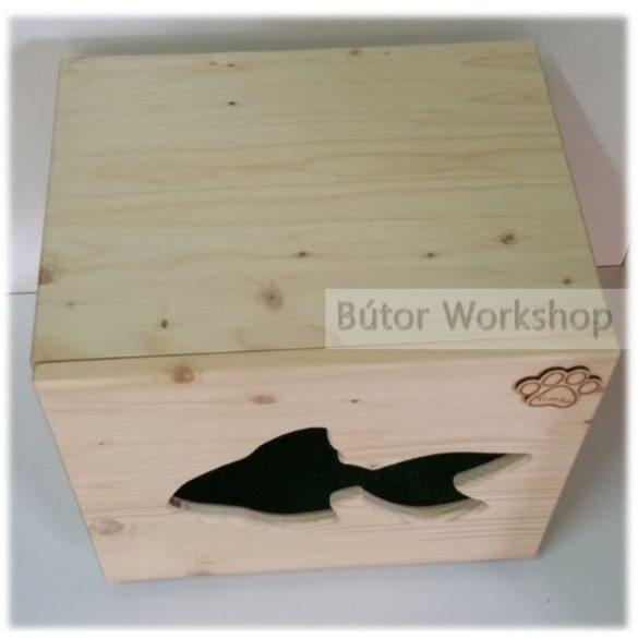 Timbo álló cicajátszóház aranyhal mintával