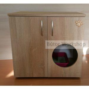 Timbo macska WC szekrény ajtón lévő bebújóval - S-es méretben