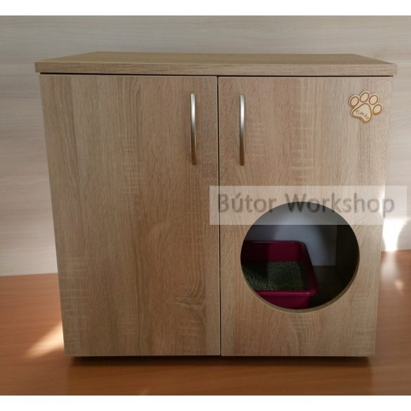 Timbo macska WC szekrény ajtón lévő bebújóval - L-es méretben