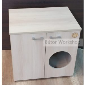 Timbo macska WC szekrény ajtón lévő bebújóval - XL-es méretben