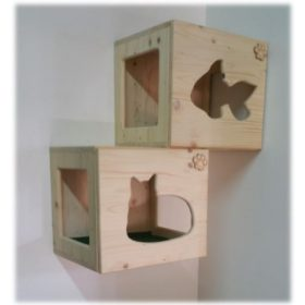 Falra szerelhető macskabútor